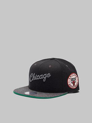 Kepsar - Mitchell & Ness Melange Patch Snapback Chicago Bulls Black