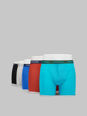 Björn Borg 5-pack Seasonal Solid Sammy Shorts 80701 Ceramic