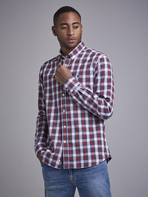 Skjortor - Morris Edmund BD Shirt 42 Red check