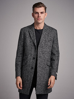 Pour Mayfair Wool Coat Grey Structure