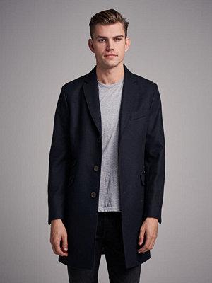 Pour Mayfair Wool Coat Navy