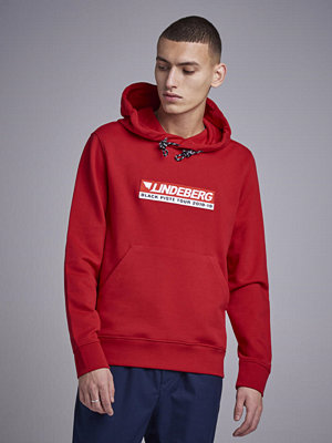 J. Lindeberg Throw Hood Ring Lop Sweat Cherry