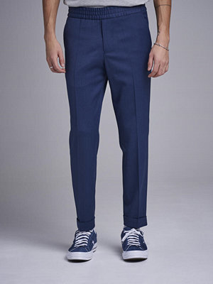 Byxor - Filippa K Terry Gabardine Cropped Trouser 8130 Flag Blue