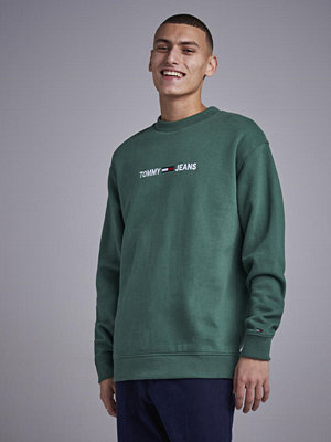 Tröjor & cardigans - Tommy Jeans Small Logo crew Forest Green