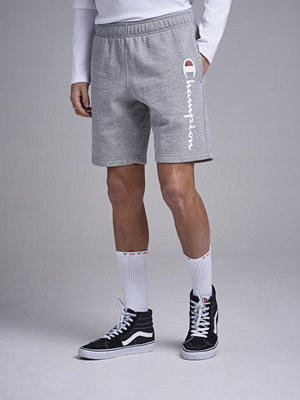 Shorts & kortbyxor - Champion Bermuda Big Logo Gray Melange
