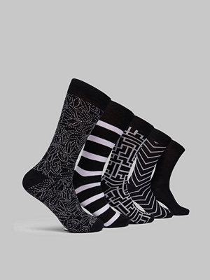 Studio Total 5 pk sock Black/white