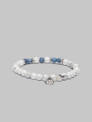 Smycken - by Billgren Bracelet 8174 White/Blue