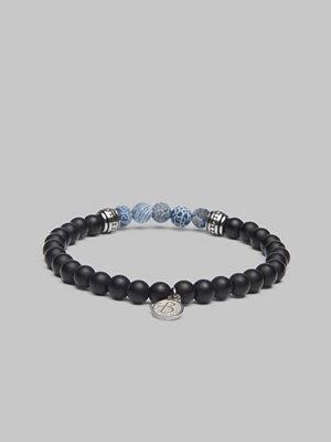 Smycken - by Billgren Bracelet 8171 Blue/Black