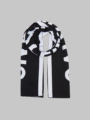 Calvin Klein Logo Jaquard Scarf 001 Black