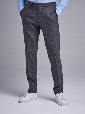 Byxor - Morris Rodney Flannel Trouser 95 Dark Grey