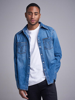 Calvin Klein Jeans Foundation Western Omega Shirt 911 Twinkle Blue