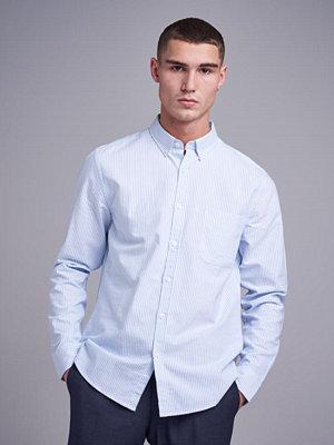 Skjortor - Studio Total Melker Oxford Shirt Striped Light Blue