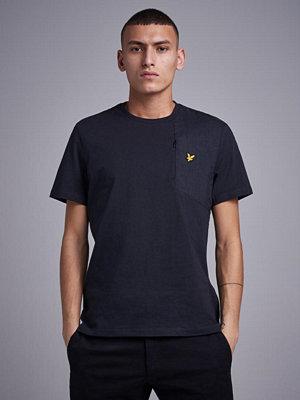 Lyle & Scott Casuals Fabric Mix T-Shirt 572 True Black