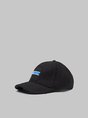 Kepsar - Calvin Klein Boiled Wool Cap 001 Black