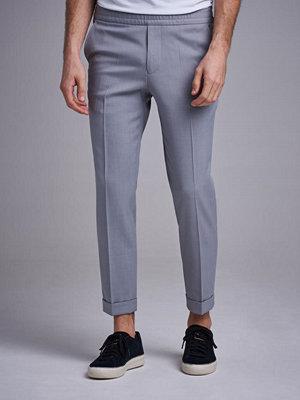 Byxor - Filippa K Terry Gabardine Cropped Trouser Silver