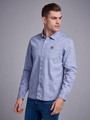 Skjortor - Lyle & Scott Sun Bleached Shirt Z468 Cloud Blue