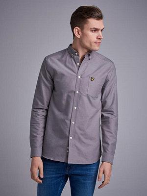 Skjortor - Lyle & Scott Oxford Shirt Z467 Pelican Grey