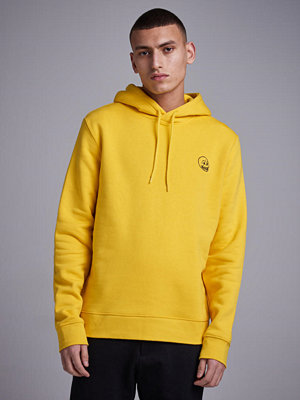 Street & luvtröjor - Cheap Monday Worth Hood Tinny Skull Solar Yellow
