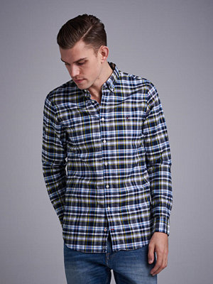 Skjortor - Tommy Hilfiger Slim Multi Check Shirt 902  Sky Captain/Multi