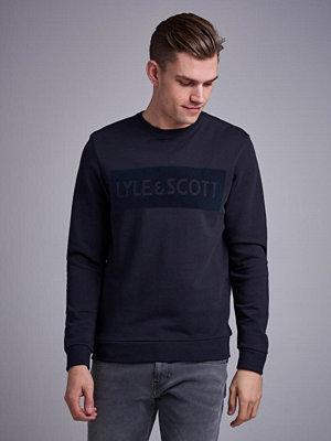 Lyle & Scott Flock Logo Sweatshirt 572 True Black