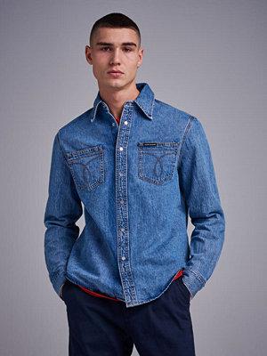 Calvin Klein Jeans Utility Omega Shirt Iconic 911 Iconic Mid Stone