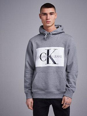 Calvin Klein Jeans Monogram Box 901 Logo Reg Hoodie  Light Grey