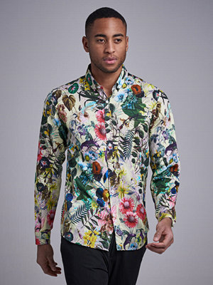 Skjortor - Ljung by Marcus Larsson Buttondown Satin Shirt Botanic Flower