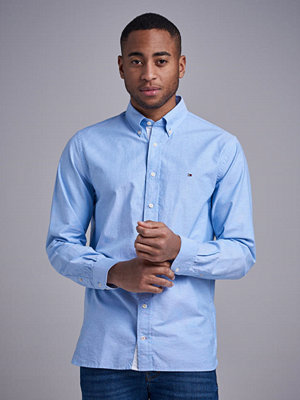 Skjortor - Tommy Hilfiger Organic Oxford Shirt Light Blue