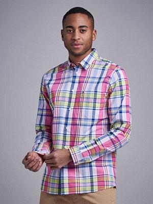 Skjortor - Tommy Jeans TJM Essential Big Check Shirt Fuschia Purple
