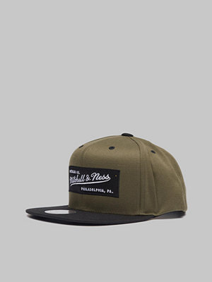 Kepsar - Mitchell & Ness M&N Box Logo Snapback Own brand Hiking Green