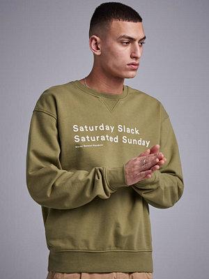 Tröjor & cardigans - Wacay Saturday Slack Sweatshirt 508 Fadded Green