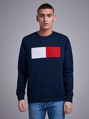 Tröjor & cardigans - Tommy Hilfiger Flag Chest Logo Sweatshirt Sky Captain