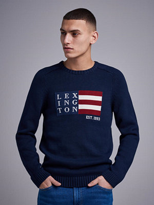 Tröjor & cardigans - Lexington Dylan Sweater Navy Blue