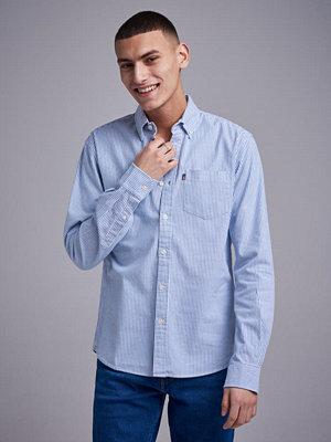 Skjortor - Lexington Kyle Oxford Shirt Blue/white stripe