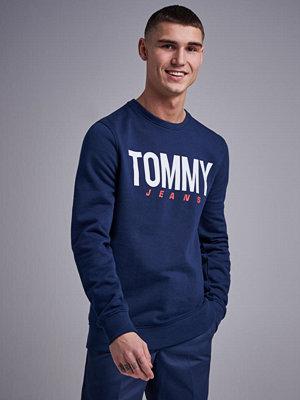 Tröjor & cardigans - Tommy Jeans TJM Essential Logo Crew Black Iris