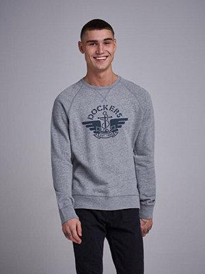 Tröjor & cardigans - Dockers Crew neck Sweatshirt Light Grey