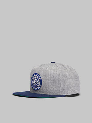 Kepsar - Brixton Rival Snapback Heather grey/Navy