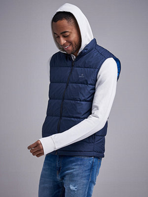 Västar - Gant The Panel Down Vest Evening Blue