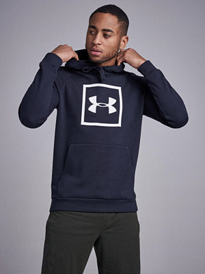 Street & luvtröjor - Under Armour Rival Fleece Logo Hoody Black/White