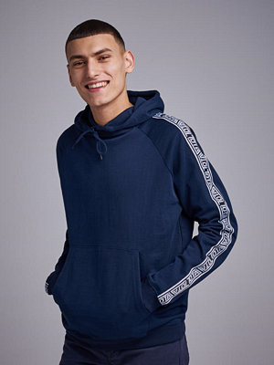 Street & luvtröjor - Studio Total Oliver Tape hoodie navy