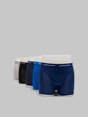 Björn Borg 5-pack Seasonal Solid Sammy Shorts 70101 Blue Depths