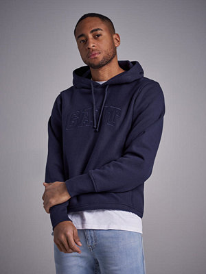 Street & luvtröjor - Gant Hoodie Sweat Evening Blue