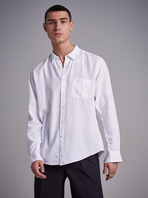 Skjortor - L'Homme Rouge Original Tencel Shirt White