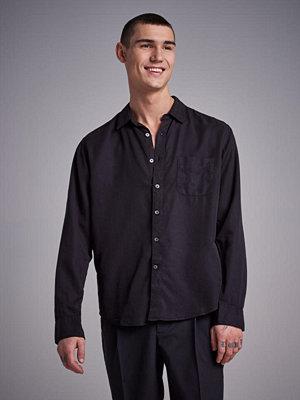 Skjortor - L'Homme Rouge Original Tencel Shirt Black