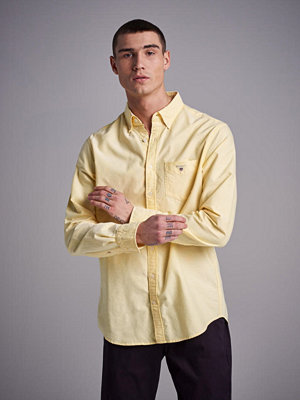 Skjortor - Gant The Oxford Shirt Reg BD Lemon Zest