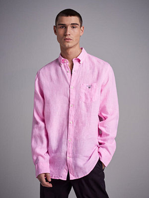 Skjortor - Gant The Linen Shirt Reg BD Bright Pink