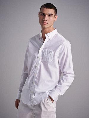 Skjortor - Gant The Broadcloth Reg BD White