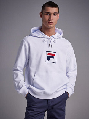 Street & luvtröjor - Fila Shawn Hooded Sweat Bright White