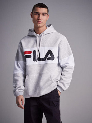 Street & luvtröjor - Fila Night Blocked Hoodie Light Grey Mel