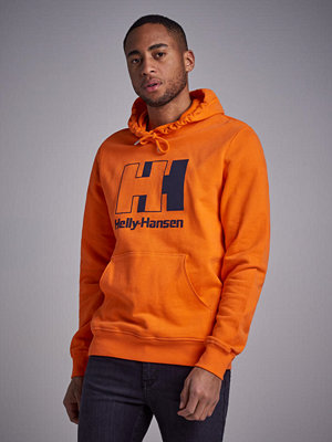 Street & luvtröjor - Helly Hansen HH Heritage Logo Hoodie Blaze Orange